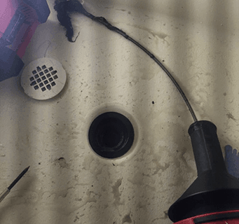 shower drain cleaning